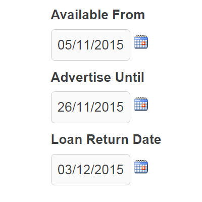 Loan return date